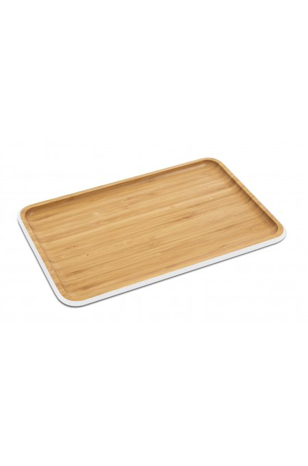 Bamboo serving tray M – white