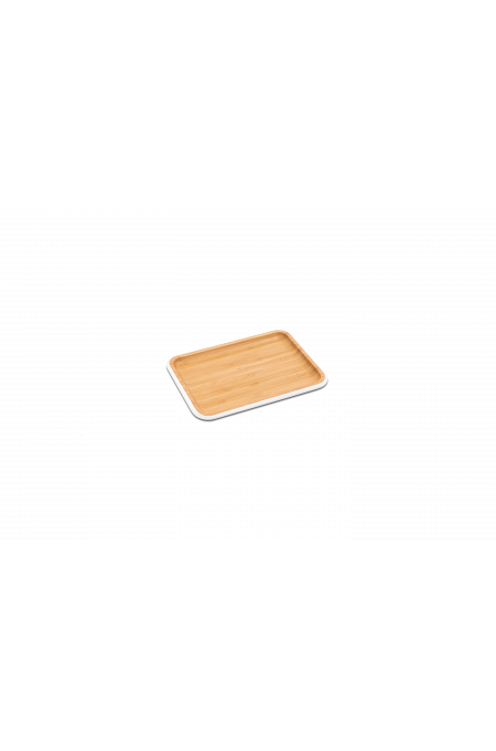 Bamboo serving tray S – white
