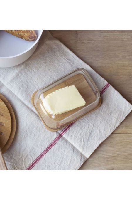 Butter dish set with knife