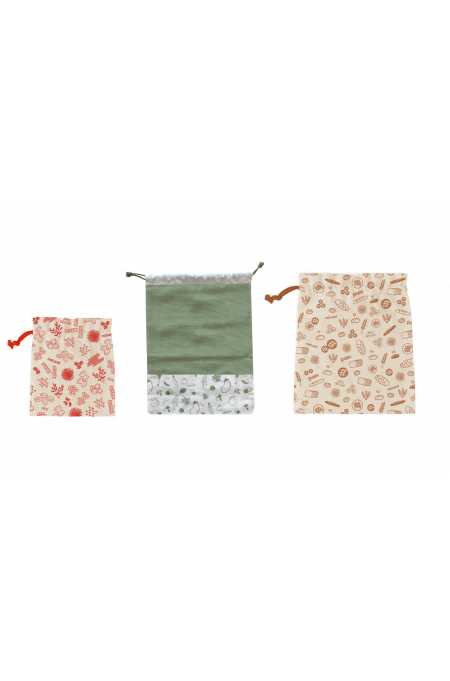 Set of 3 zero waste bags