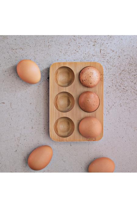 Plateau à œufs - blanc